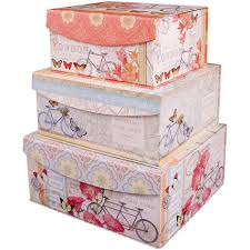 Decoration Storage Containers Fabric Storage Tray Square Bins Large Boxes Decorative Cardboard