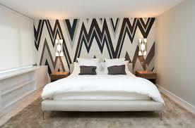 Gray Wallpaper Bedroom - bedroom with wallpaper accent wall bedroom