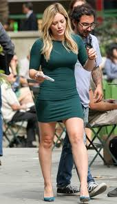 dress hilary duff forest green bodycon dress wheretoget