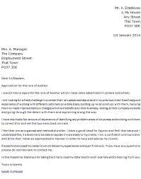 environmental auditor cover letter