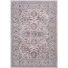 Concord Global Area Rugs Traditional Rug Thema Vintage Brown Gray Traditional Rug