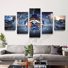 Art Canvas 5 Piece Abstract Denver Broncos Wall Canvas Art