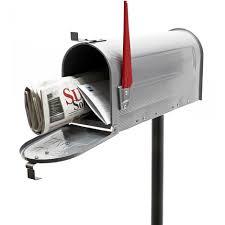 cassetta della posta americana mailbox cassetta per la posta americana con palo supporto argento