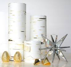 diy faux birch candleholders more woodland decor i can u0027t help