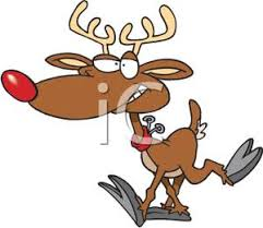 red nosed reindeer royalty free clipart picture