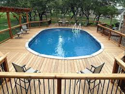 above ground swimming pool deck design ideas above ground pool