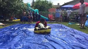 diy tarp slip u0027n slide with hair conditioner slowmo youtube