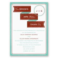 two brides invitation invitations by dawn