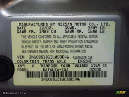 2003 sentra color code kv9 for radium gray photo 82295084