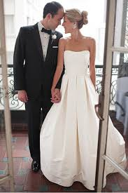 a line sweetheart court train ivory satin wedding dress with ruched