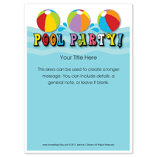 pool everyone invitations cards on pingg