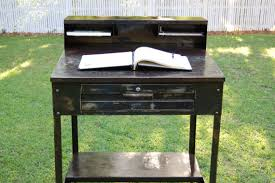 Metal Desk Vintage Industrial Metal Desk Good Urban Wood And Steel Desk With