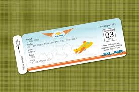 printable airplane birthday party airline ticket invitation b