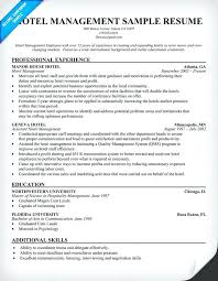Hotel Manager Resume Sample Hotel Manager Resume Hotel Management Resume Hotel Sales