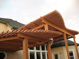 natural wooden patio covers homesfeed