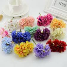 Flowers For Home Decor 6pcs Lot 3cm Silk Artificial Chrysanthemum Flowers For Home Garden