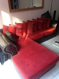 canapé d angle cuir et tissu achetez canapé d angle cuir occasion annonce vente à brie comte