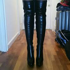 womens boots size 12 60 pleaser shoes s size 12 med pleaser thigh high