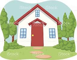Cute Home Cartoon Of Cute Little House With Garden Stock Vector Art