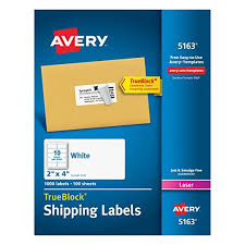 Avery Templates For Excel Amazon Com Avery Mailing Labels With Trueblock Technology For
