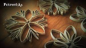 diy how to make toilet paper roll snowflakes and christmas