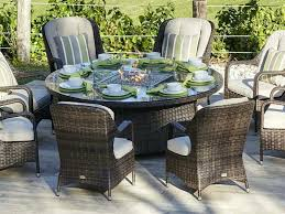 patio table with fire pit outside wicker patio furniture direct wicker 8 seat round gas fire