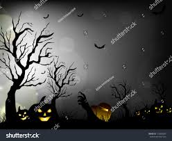 free halloween background eps halloween night background with scary pumpkins bats and dead