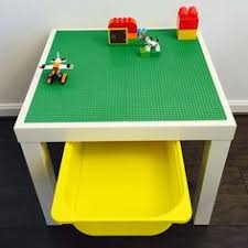 duplo table with storage ikea hack lack duplo table i used electrical tape for the road and
