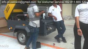 air compressor atlas copco xas 97 patraco youtube