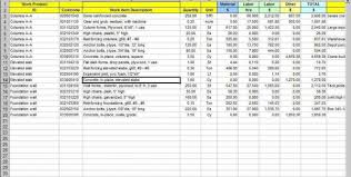 basement estimate spreadsheet estimate spreadsheet template