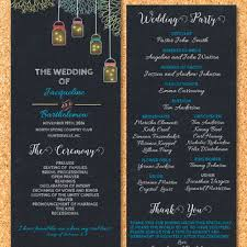 chalkboard wedding program template best chalkboard jar products on wanelo