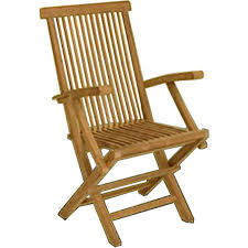 Overstock Armchair Solid Teak Classic Folding Armchair Set Of 2 Free Shipping