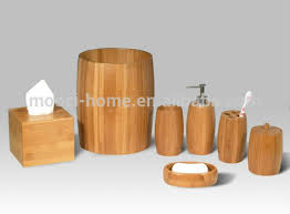 Wooden Bathroom Accessories Set by Adorable 10 Bamboo Bathroom Accessories Decorating Design Of Why