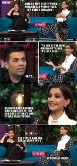 Kareena Kapoor Memes - kapoor khan and sonam kapoor in koffee with karan episode
