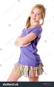 beautiful happy cute teenager skirt stock photo 79949719
