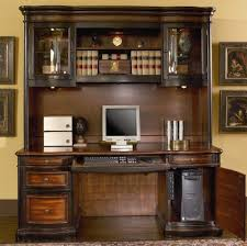 Executive Desk With Hutch Home Office Computer Desk With Hutch In Two Tone Warm