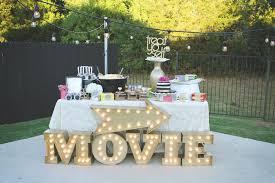 kara u0027s party ideas outdoor movie night 30th birthday party via