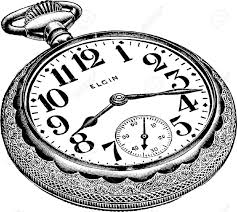 pocket watch line drawing an antique engraved illustration of a