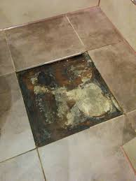 flooring how to repair leak mould under bathroom floor tile