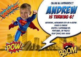 Customized Birthday Invitation Cards Superman Birthday Invitations Kustom Kreations