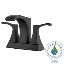 pfister venturi 4 in centerset 2 handle bathroom faucet in matte