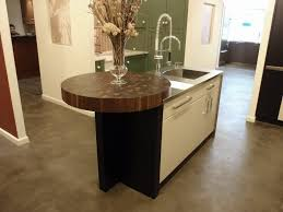 end grain wood countertops brooks custom round walnut end grain butcher block wood countertop on a kitchen island