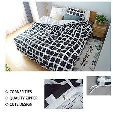 uozzi bedding 3 piece duvet cover set with zipper closure black