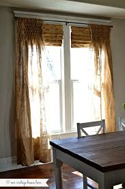 Burlap Drapery Our Vintage Home Love Diy Smocked Burlap Curtains