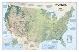 United States Map Wall Decal by National Geographic Maps United States Physical Wall Map U0026 Reviews