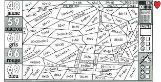 Coloriage magique maths ce1 ce2  Laborde yves