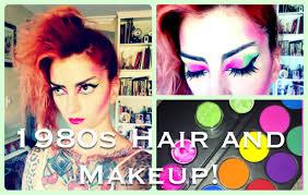 1980s punk hair u0026 makeup halloween tutorial by cherry dollface