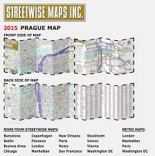 L Chicago Map by Streetwise Prague Map Laminated City Center Street Map Of Prague