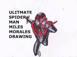 ultimate spider man miles morales speed drawing sam rogers youtube