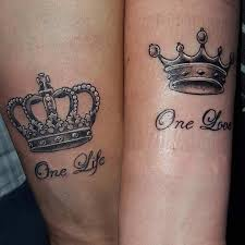 tattoo queen photos 51 king and queen tattoos for couples stayglam